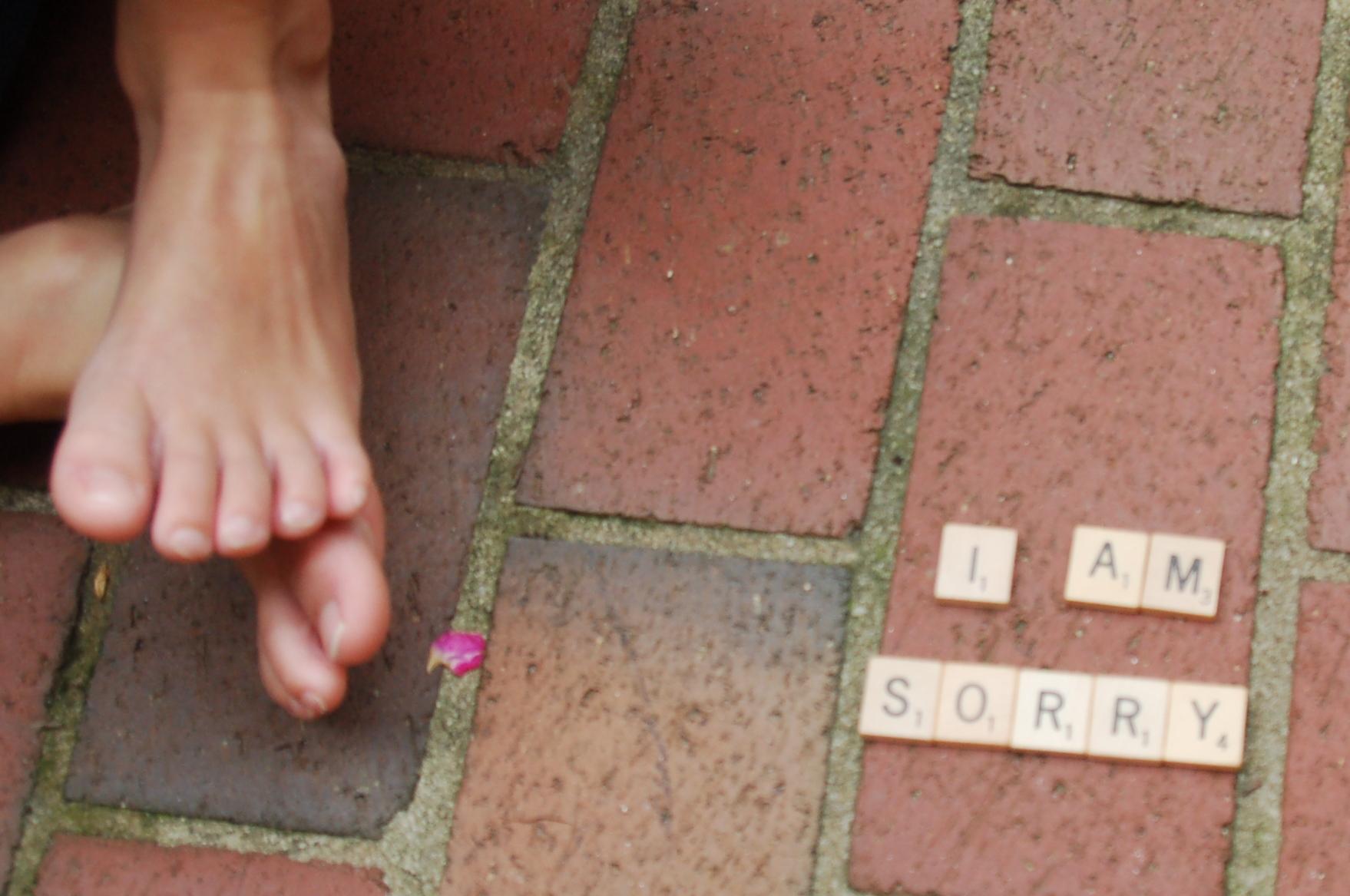 feet sorry apologize